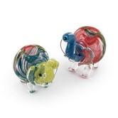 Gekleurde Glazen Pijp Olifant