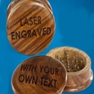 ENGRAVED Wooden Grinder