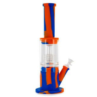 Hybride bong van siliconen en glas
