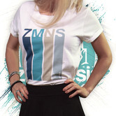 Retro T-Shirt Rolled Sleeve | Dames