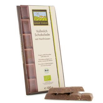 Organische Melk Chocolade met Hennep Zaden