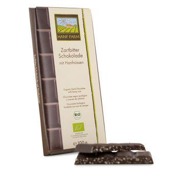 Organische Pure Chocolade met Hennep Zaden