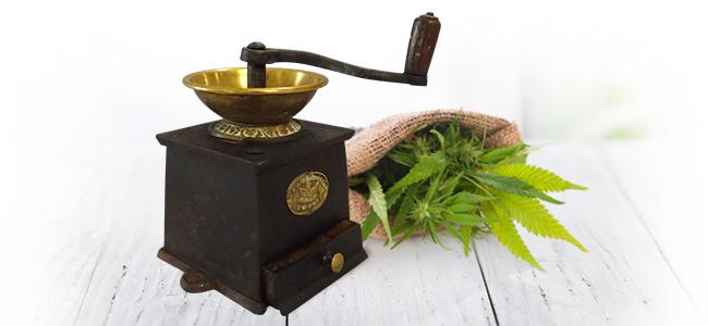 Cannabis Grinden: Koffiemolen