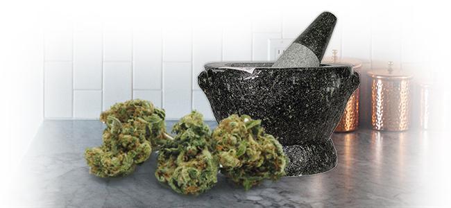Cannabis Grinden: Stamper En Vijzel