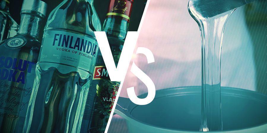 Kiezen tussen alcohol met een hoog percentage en glycerine