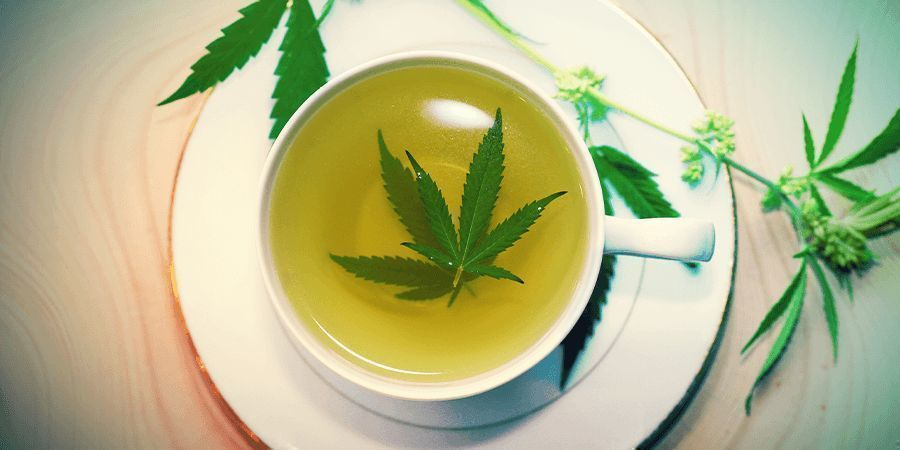 Cannabis Stengels: Thee