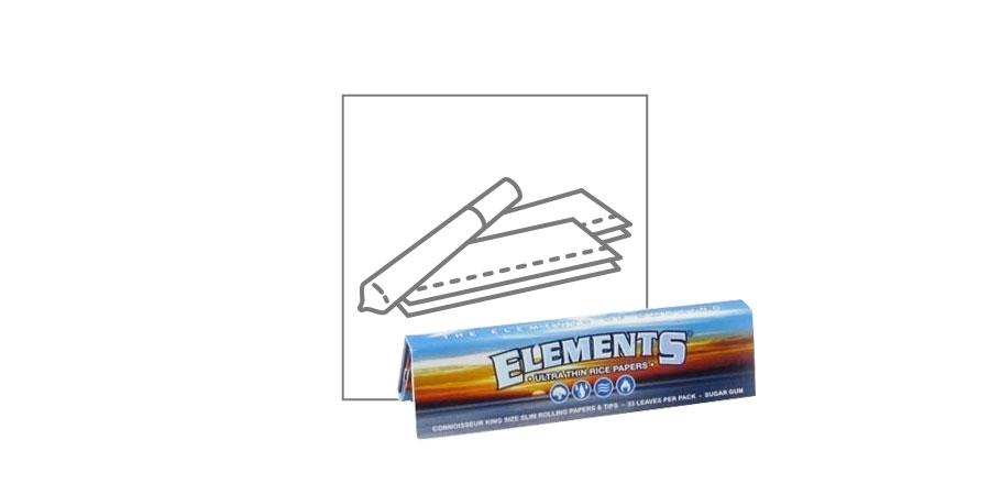 Lange Vloei Elements Connoisseur + Tipjes