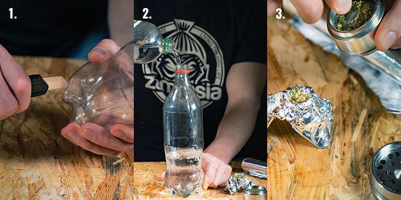 Instructies voor het maken van een waterfall bong