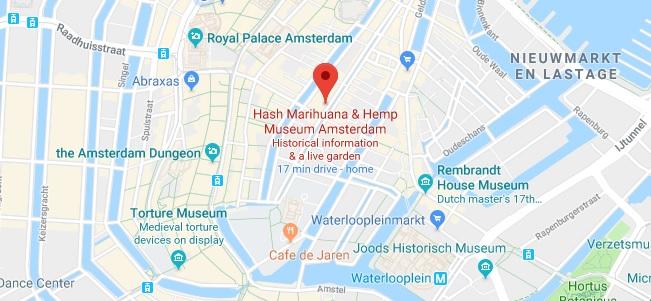 Locatie en Adres - Hash Marihuana & Hemp Museum Amsterdam