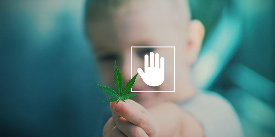 Rook cannabis nooit in aanwezigheid van je kinderen