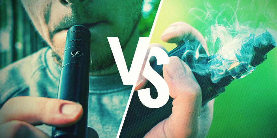 Wat Zijn De Verschillen Tussen Het Vapen Van Droge Kruiden En E-liquids?