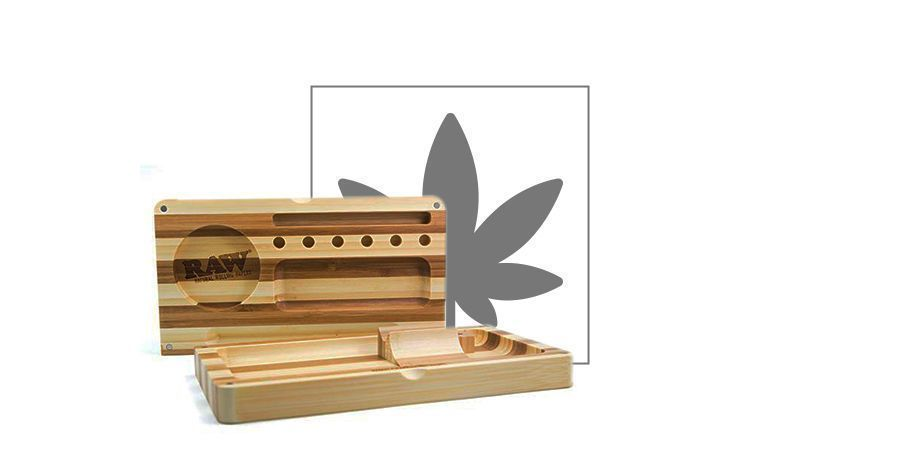 RAW Bamboo Backflip Tray (3 delig)