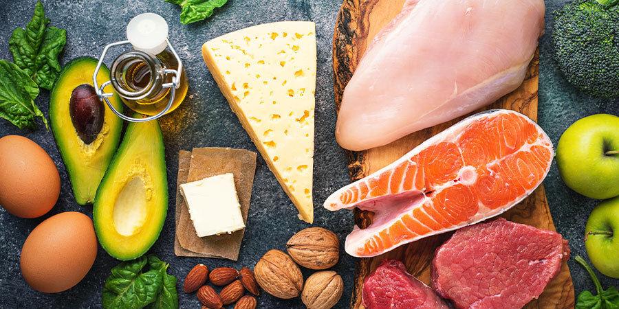 Voorbeelden van keto-voedingsmiddelen