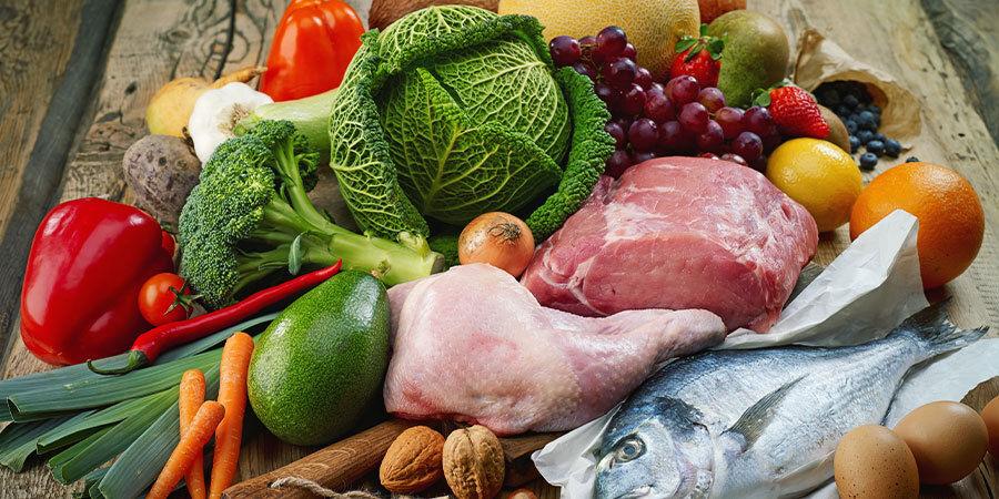 Voorbeelden van paleo-voedingsmiddelen