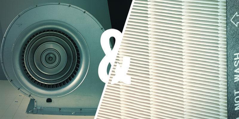 Hoe koppel je de ventilator aan het juiste filter?