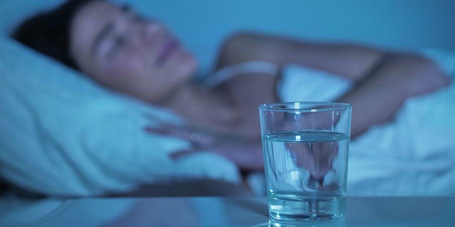 DRINK WATER VOOR HET SLAPENGAAN