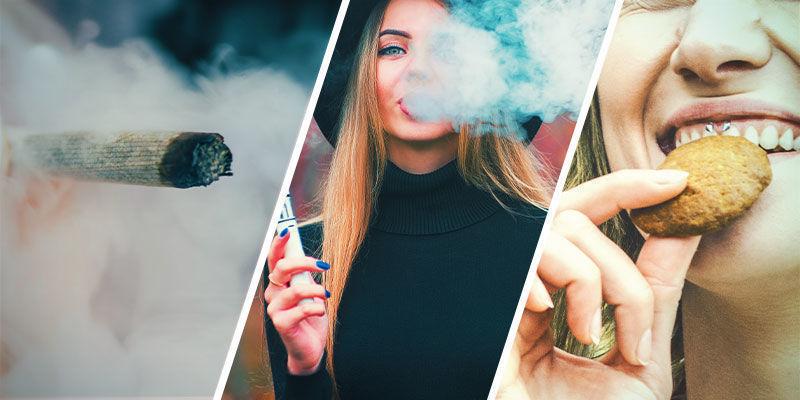 Maakt het uit of je de wiet rookt, vapet of eet?
