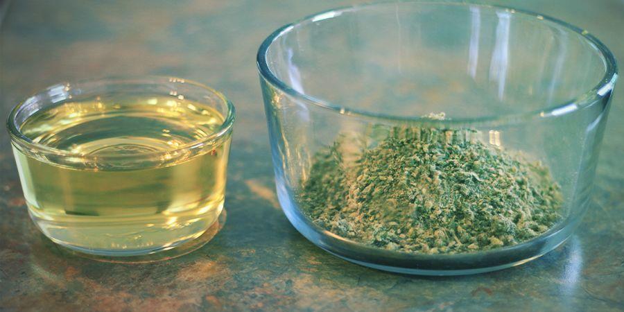 Hoe maak je olijfolie met wiet: ingrediënten en materiaal
