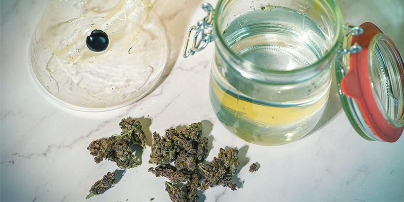 Hoeveel THC kan er in water achterblijven?