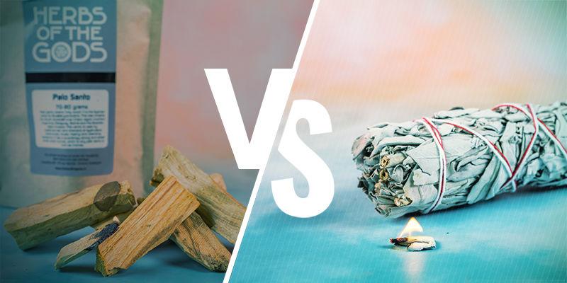 Palo santo hout versus salie