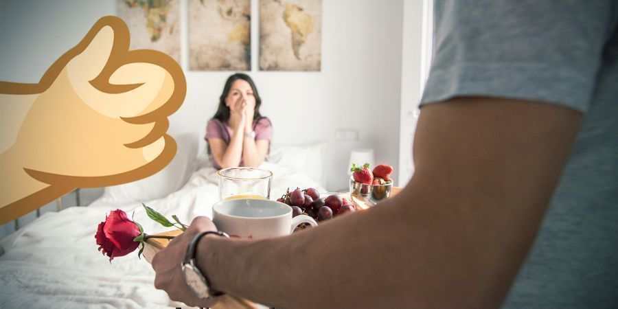 Cannabis-Ontbijt Op Bed
