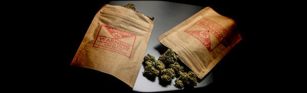 Voorverpakte besmetten cannabis