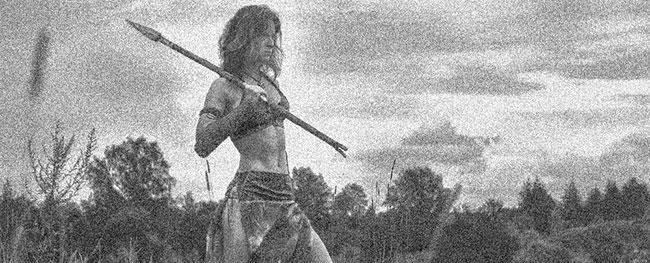 een vechtende Scythia vrouw