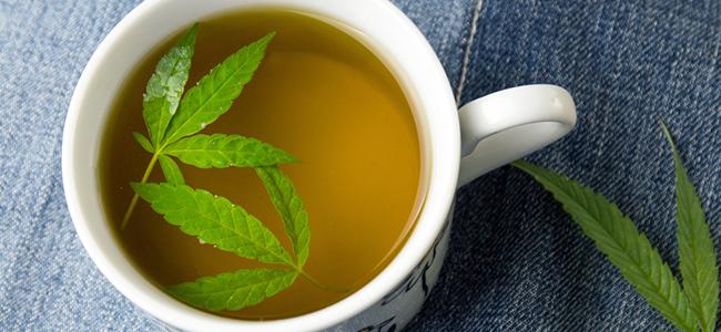 Cannabisstengel thee