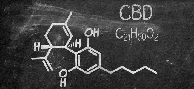 Struttura molecolare CBD