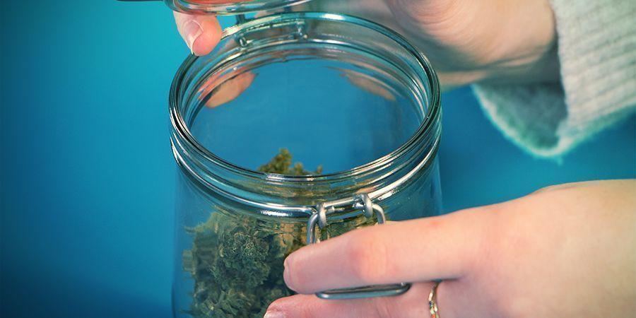 Cannabis bewaren