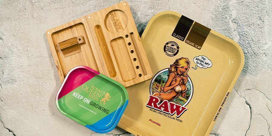 Rolling Tray's In Diverse Maten