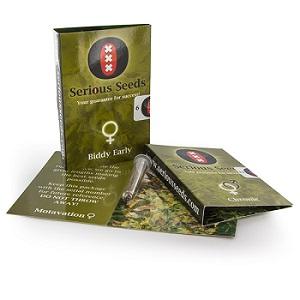 Verpakking van Serious Seeds