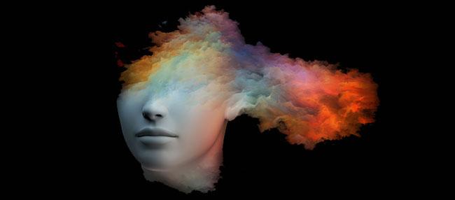Creatieve brein na eten van paddo's