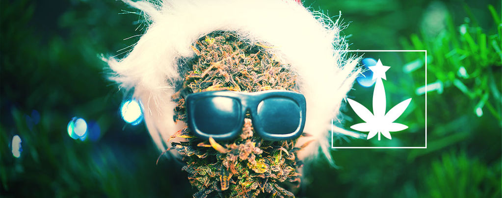 Kerstfeest Met Cannabis-Thema