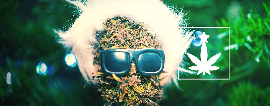 Kerstfeest Met Cannabis-Thema