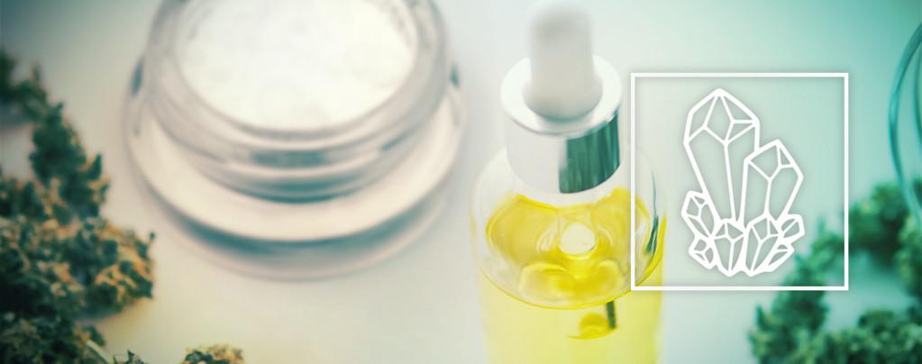 CBD-olie Met CBD-kristallen