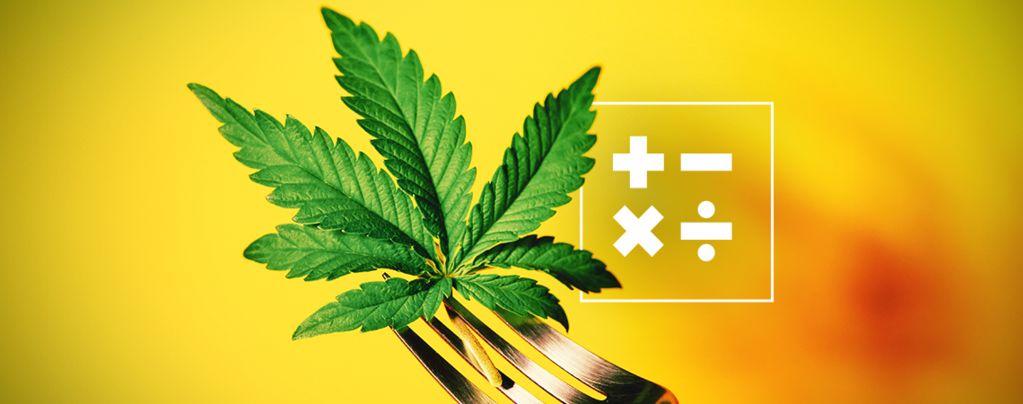 Het berekenen van de THC sterkte in edibles