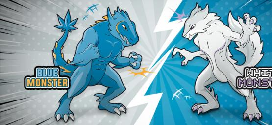 Blue Monster vs White Monster: De Battle Van De Eeuw