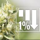6 Cannabis Strains Met 1% Of Minder THC