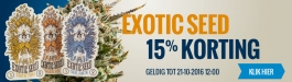 15% Korting Exotic Seed